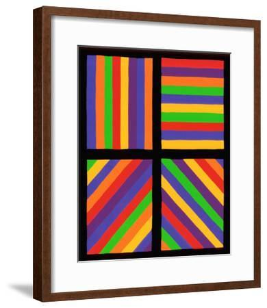 Color Bands in Four Directions, c.1999-Sol Lewitt-Framed Premium Giclee Print