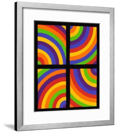 Color Arcs in Four Directions, c.1999-Sol Lewitt-Framed Premium Giclee Print
