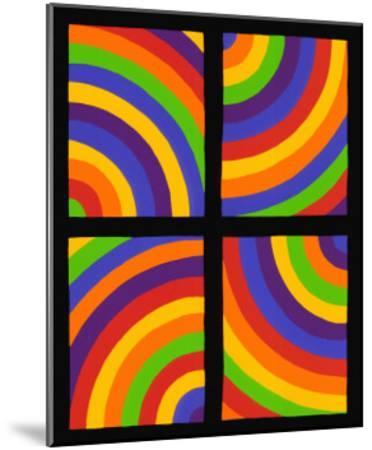 Color Arcs in Four Directions, c.1999-Sol Lewitt-Mounted Premium Giclee Print