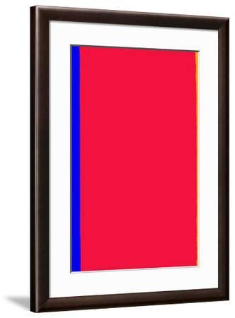 Who's Afraid of Red and Yellow?-Barnett Newman-Framed Serigraph
