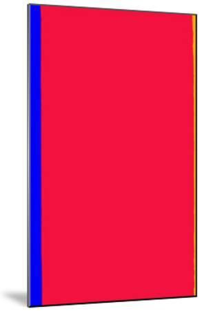 Who's Afraid of Red and Yellow?-Barnett Newman-Mounted Serigraph