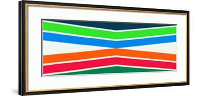 Zone Tropicale, c.1964-Kenneth Noland-Framed Serigraph