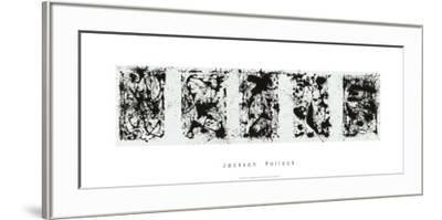 Black and White Polyptych-Jackson Pollock-Framed Serigraph