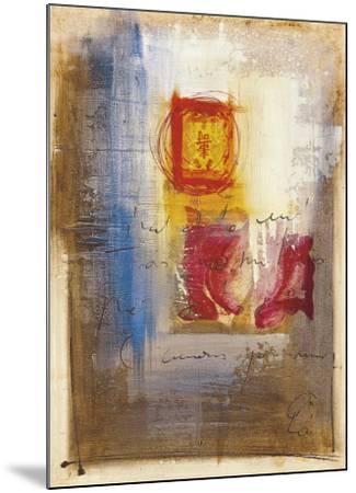 Leaning-Gemma Leys-Mounted Art Print