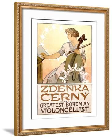 Zdenka Cerny Cello Concert-Alphonse Mucha-Framed Giclee Print