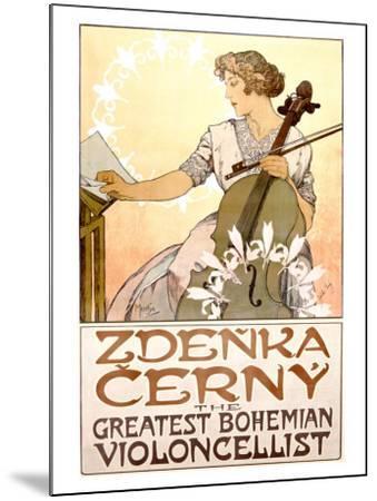 Zdenka Cerny Cello Concert-Alphonse Mucha-Mounted Giclee Print