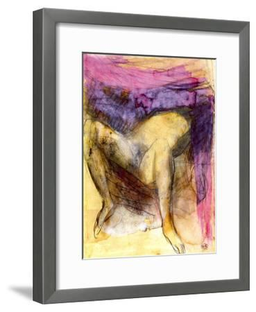 Nude Woman on her Back with Legs Apart-Auguste Rodin-Framed Art Print