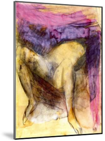 Nude Woman on her Back with Legs Apart-Auguste Rodin-Mounted Art Print