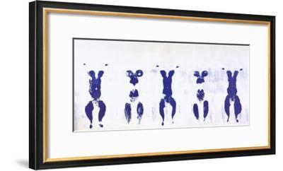Untitled, Anthropometry, c.1960 (ANT100)-Yves Klein-Framed Art Print