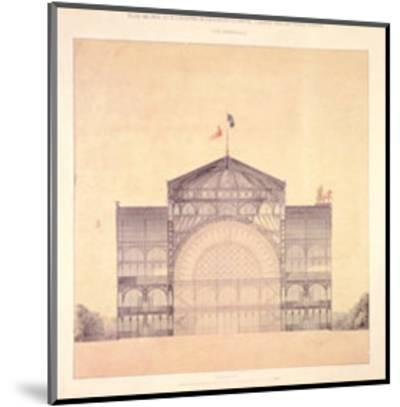 Cast Iron and Glass Industrial Pallet for the Champs-Elysees, Cross-Section, 1852-Jakob Ignaz Hittorff-Mounted Art Print