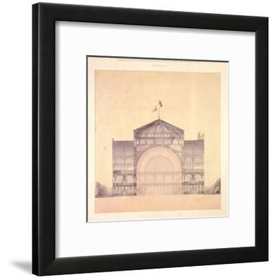 Cast Iron and Glass Industrial Pallet for the Champs-Elysees, Cross-Section, 1852-Jakob Ignaz Hittorff-Framed Art Print