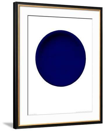 Blue Disk, c.1957 (IKB54)-Yves Klein-Framed Serigraph