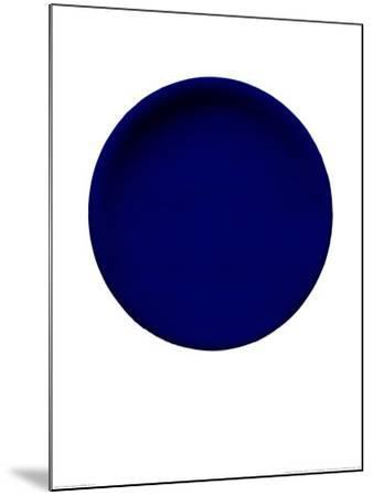 Blue Disk, c.1957 (IKB54)-Yves Klein-Mounted Serigraph