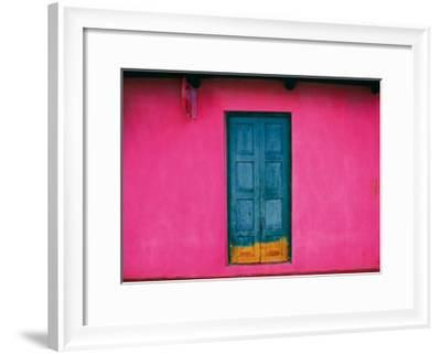 Fachada Rosa, Teopisca, Mexico-Jeffrey Becom-Framed Art Print