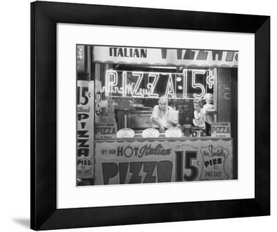 Hot Italian Pizza-Nat Norman-Framed Art Print