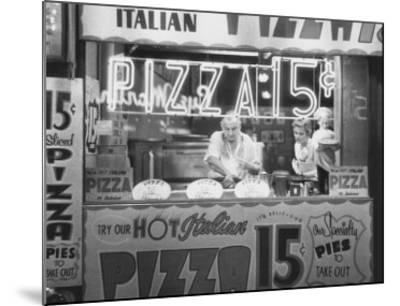 Hot Italian Pizza-Nat Norman-Mounted Art Print