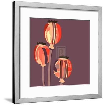 Poppy Pods-Emily Burrowes-Framed Art Print