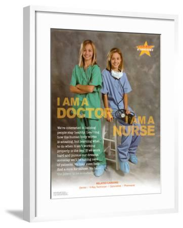 Doctor & Nurse--Framed Art Print