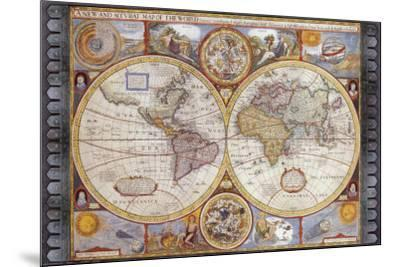 A New And Accvrat Map Of The World 1626.Antique Map New Map Of The World 1626 Art Print By John Speed