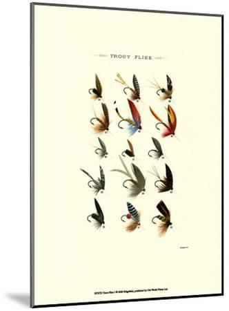 Trout Flies I--Mounted Art Print