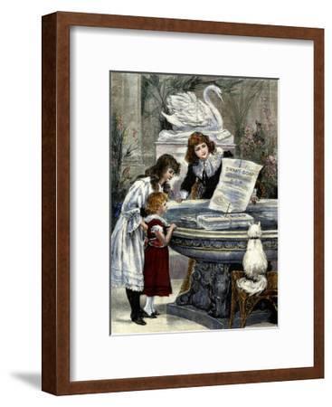 Swan Soap--Framed Art Print