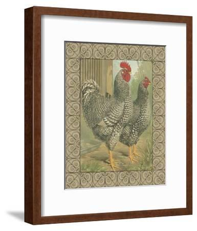 Roosters II-Cassell's Poultry Book-Framed Art Print