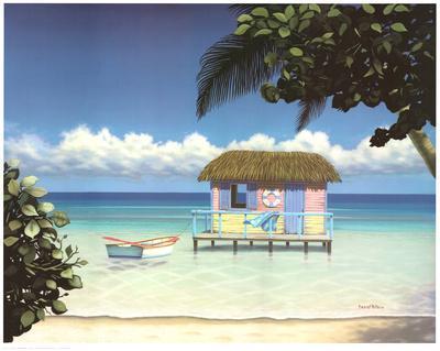 Island Hut-Daniel Pollera-Art Print