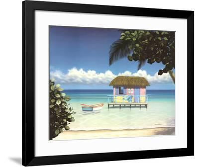 Island Hut-Daniel Pollera-Framed Art Print