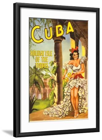 Cuba, Holiday Isle of the Tropics--Framed Art Print