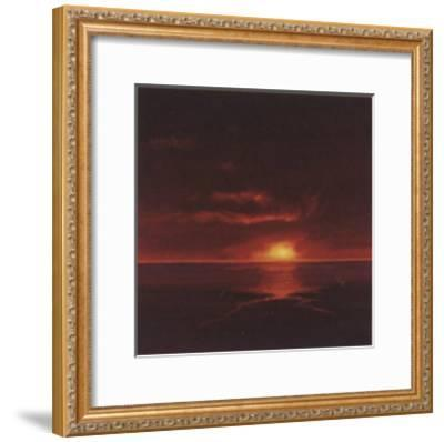 Tropical Sunset I-Spencer Lee-Framed Art Print