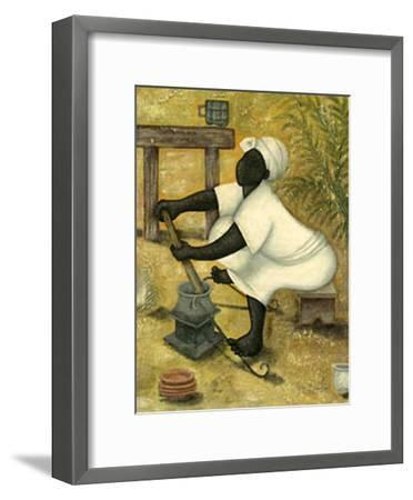 Working II-Monica Ibanez-Framed Art Print