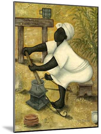Working II-Monica Ibanez-Mounted Art Print