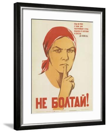 Don't Babble! Keep Your Tongue Behind Your Teeth-N.Vatolina, N.Denisov-Framed Art Print