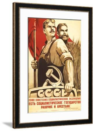 The Republic of Social Soviet, Union for Country and Urban Worker--Framed Art Print