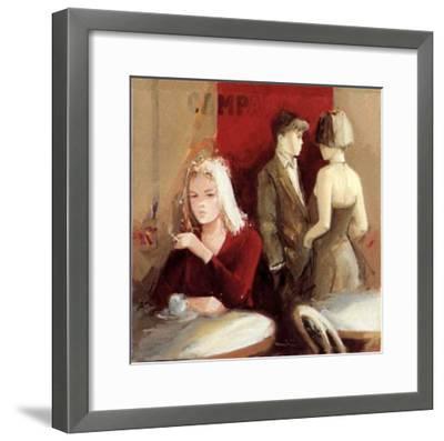 Waiting for the Man I-Giuliano Trombini-Framed Art Print