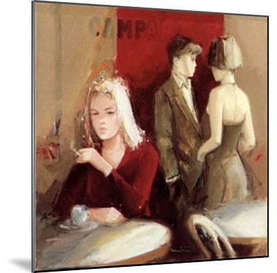 Waiting for the Man I-Giuliano Trombini-Mounted Art Print