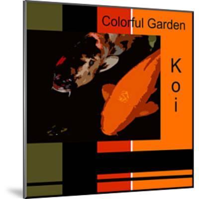 Colorful Garden Koi-erichan-Mounted Giclee Print