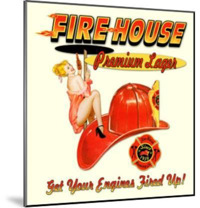 Fire House Lager--Mounted Giclee Print