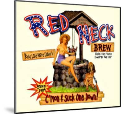 Red Neck Brew--Mounted Giclee Print