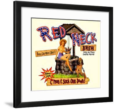 Red Neck Brew--Framed Giclee Print
