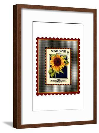 Sunflower Seed Pack--Framed Giclee Print