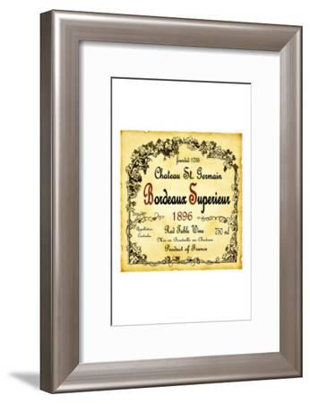 Bordeaux Wine Label--Framed Giclee Print