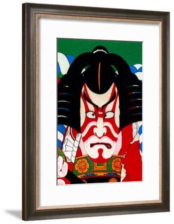 Kabuki Makeup--Framed Giclee Print