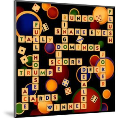 Dice, Bunco and Dominos-Kate Ward Thacker-Mounted Giclee Print