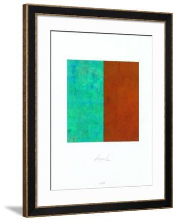 Quadrat Rost Gruenspan-Juergen Freund-Framed Limited Edition