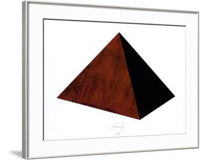 Pyramide Rost Schwarz-Juergen Freund-Framed Limited Edition