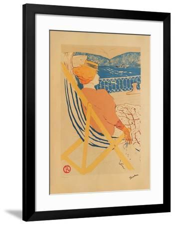 La passagère du 54 I-Henri de Toulouse-Lautrec-Framed Collectable Print