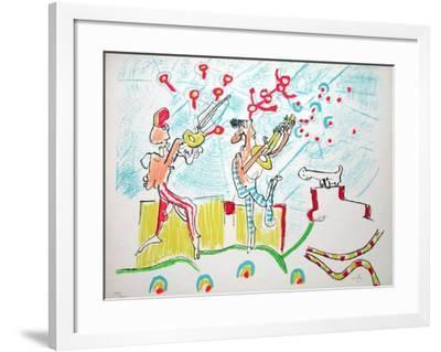 Les Annales du Son-Roberto Matta-Framed Limited Edition