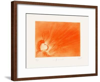 On Souffle Sur la Resine-Jean Messagier-Framed Limited Edition