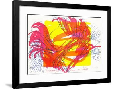 Hommage a Bram Van Velde-Jean Messagier-Framed Limited Edition